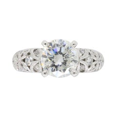 Simon G 1.60 Carat Platinum Diamond Engagement Ring
