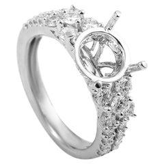 Simon G. 18 Karat White Gold Diamond Engagement Ring Mounting 21685557W