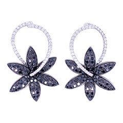 Simon G Black and White Diamond Earrings