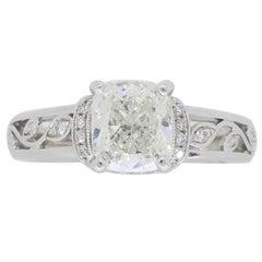 Simon G Cushion Cut Diamond Engagement Ring