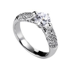 Simon G. Women's 18 Karat White Gold Diamond Engagement Ring SM8-051931