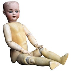 Simon & Halbig Wooden and Porcelain Articulated Doll