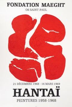 Abstract Red Tabula - Original Lithograph Poster (Fondation Maeght, 1969)