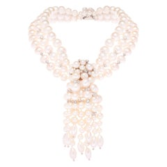 Simon Harrison Audrey Champagne Freshwater Pearl & Sterling Silver Necklace