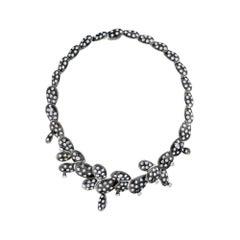 Simon Harrison Black Enamel Kahlo Necklace