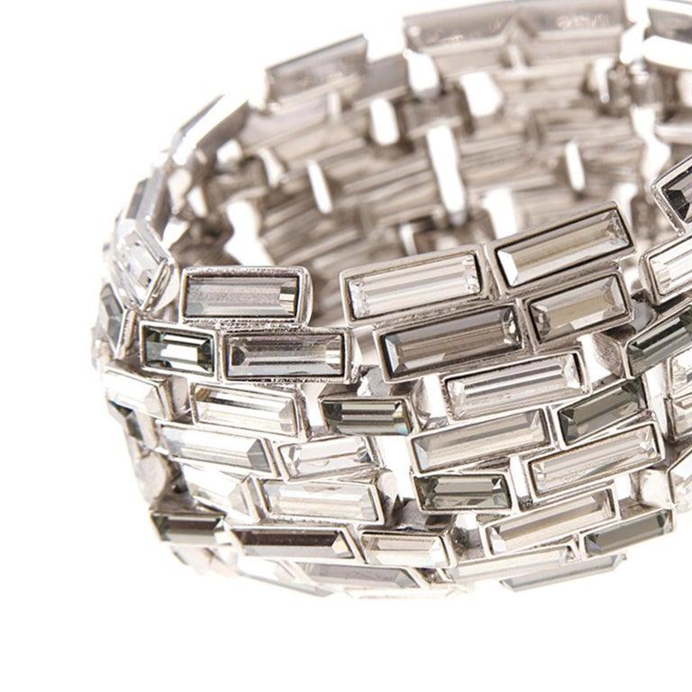 Contemporary Simon Harrison Caddis Multi Baguette Crystal Bracelet For Sale