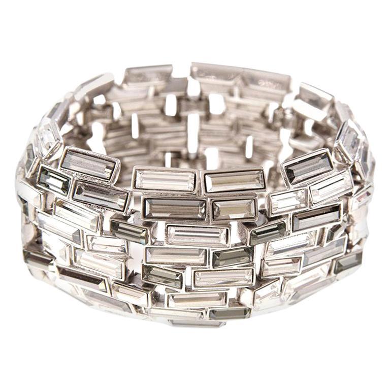 Simon Harrison Caddis Multi Baguette Crystal Bracelet For Sale