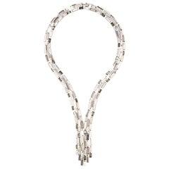 Simon Harrison Caddis Multi Baguette Crystal Cascade Necklace