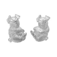 Simon Harrison Chinese Zodiac Sterling Silver Pig Cufflink