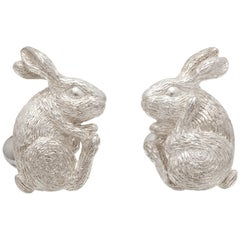 Simon Harrison Chinese Zodiac Sterling Silver Rabbit Cufflink