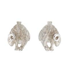 Simon Harrison Chinese Zodiac Sterling Silver Ram Cufflink