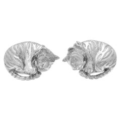 Simon Harrison Chinese Zodiac Sterling Silver Tiger Cufflinks