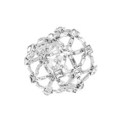 Simon Harrison Claudette Baguette & Square Clear Crystal Bracelet