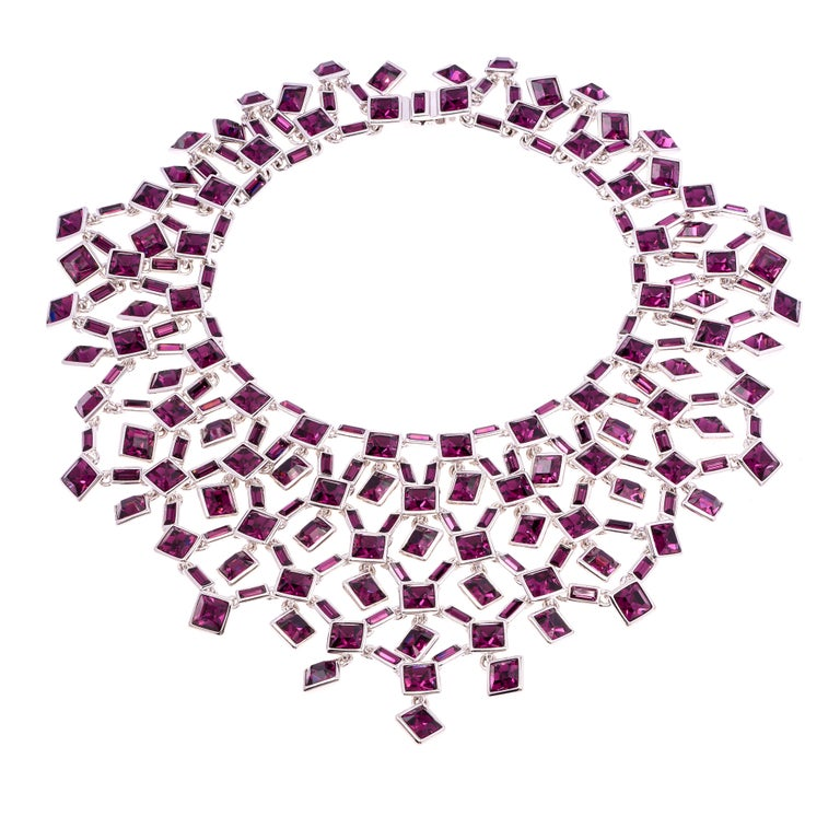 Women's Simon Harrison Claudette Large Amethyst Crystal Necklace For Sale