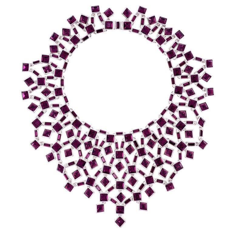Simon Harrison Claudette Large Amethyst Crystal Necklace For Sale