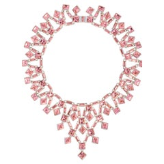 Simon Harrison Claudette Small Pink Crystal Necklace