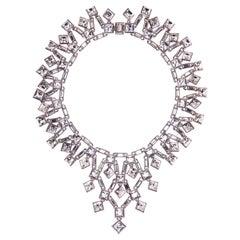 Simon Harrison Claudette Square Crystal Cluster Small Necklace