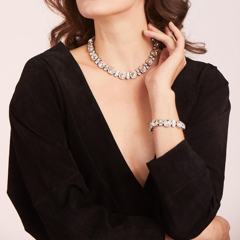 Simon Harrison Crystal Lauren Necklace In New Condition For Sale In London, GB