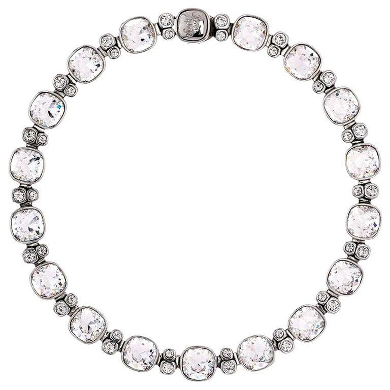Simon Harrison Crystal Lauren Necklace For Sale