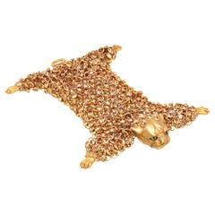 Simon Harrison Dionysus Leopard Gold Crystal and Stainless Steel Bracelet