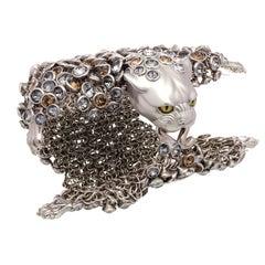 Simon Harrison Dionysus Leopard Stainless Steel Bracelet