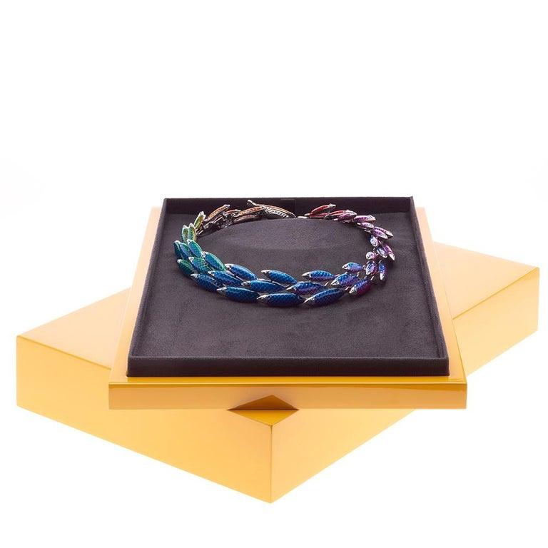Simon Harrison Electra Rainbow Enamel Fish Necklace For Sale 1