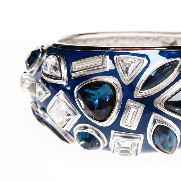 Contemporary Simon Harrison Galaxy & Stars Enamel & Crystal Bangle For Sale