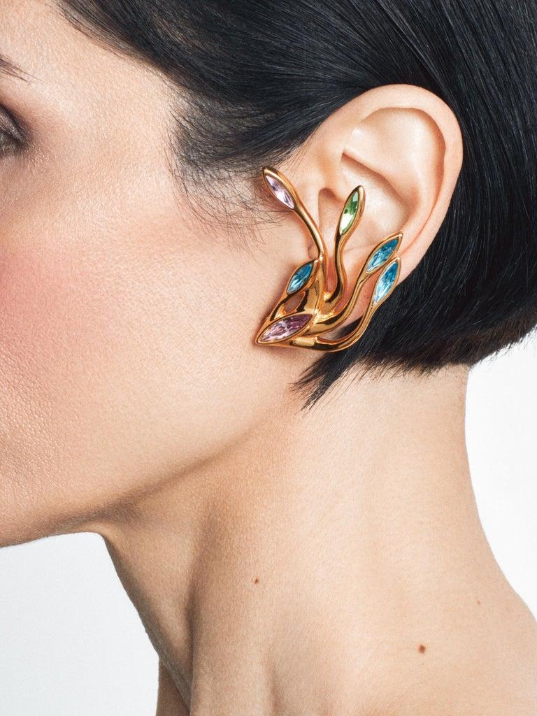 Simon Harrison Hera Peacock Plume Crystal Bracelet For Sale 2