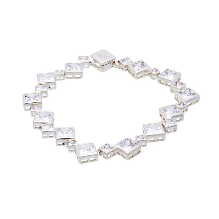 Contemporary Simon Harrison Icicle Sterling Silver Bracelet For Sale