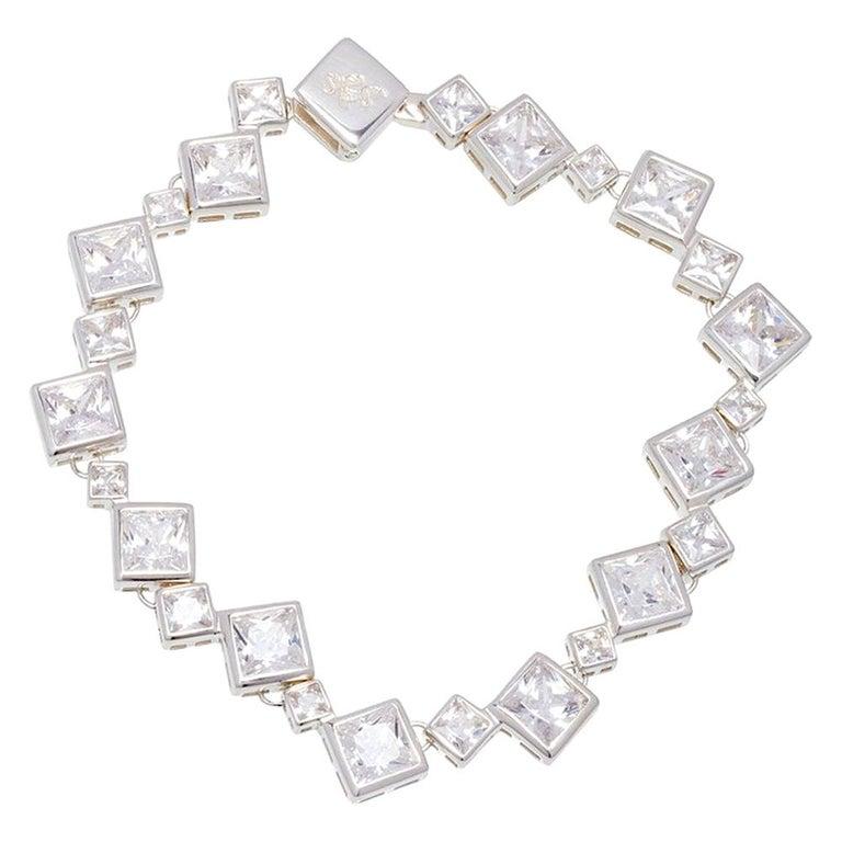 Simon Harrison Icicle Sterling Silver Bracelet For Sale