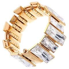 Simon Harrison Gloria Gold Plated Stainless Steel & Crystal Bracelet