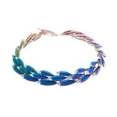 Simon Harrison Rainbow Enamel Electra School of Fish Necklace