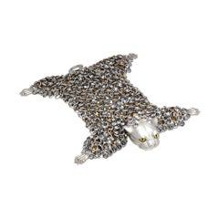 Simon Harrison Stainless Steel Dionysus Leopard Bracelet