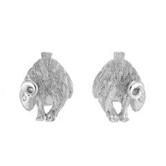 Simon Harrison Zodiac East Sterling Silver Ram Cufflink