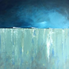 Off the Point - contemporary abstract landscape mixed media canvas