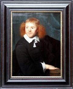 Dutch Golden Age Portrait - Old Master 17thC art male portrait oil painting