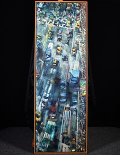 Traffic - New York - Contemporary Oil, Cityscape by Simon Nicholas