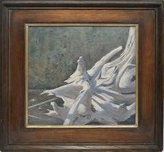 Vintage American Modernist Driftwood Still Life Oil Painting by Simon Parkes