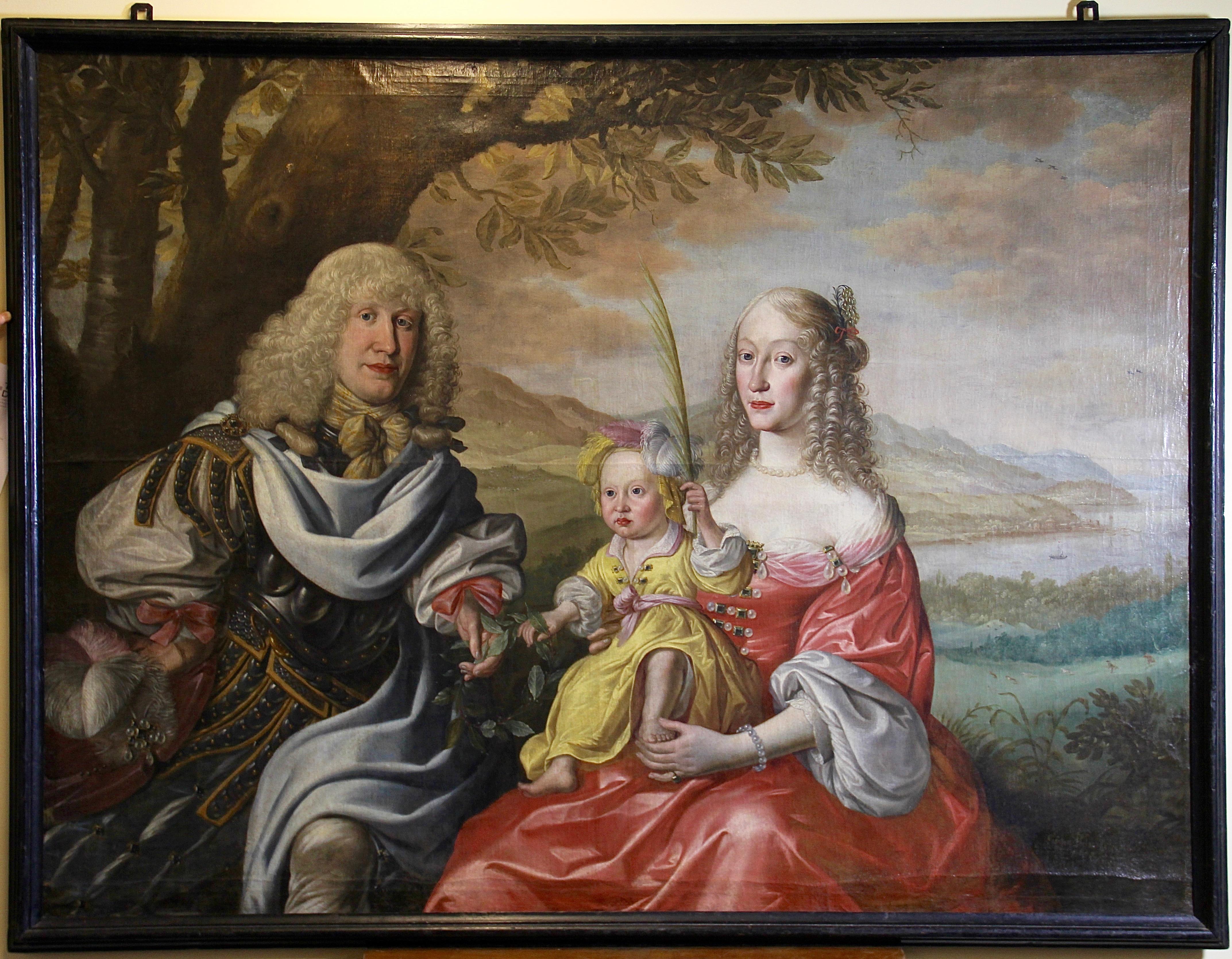 Simon Peter Tilemann Family Portrait 1658 Old Master Baroque Rococo Painting