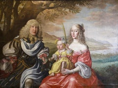 SIMON PETER TILEMANN, Family Portrait, 1658, Old Master. Baroque Rococo Painting