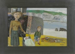 'Mother and Children by the Sea' by Birtish artist Simon Quadrat