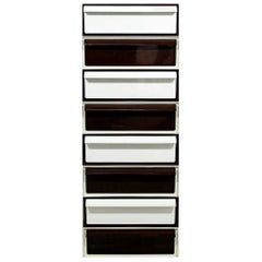 Simon Russell for Kartell 8 Drawer Stacking File Cabinet, 1970s