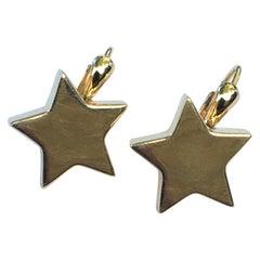 Simon Sobie 18 Karat Yellow Star Earrings