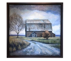 Canadian Barn (Iconic tonalist barn in contemporary western landscape)