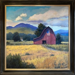Standing for Something (American flag, purple mountain majesties, red barn)