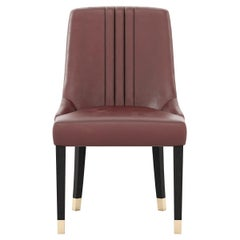 Simone Chair, Portuguese 21st Century Contemporary Upholstered with Leather
