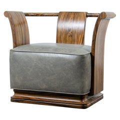 Simone Lounge Chair from Costantini in Leather and Solid Argentine Rosewood