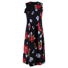Simone Rocha Black Multi-coloured Floral Pattern Dress - Size US 8