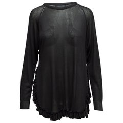 Simone Rocha Black Ruffle-Trimmed Sweater