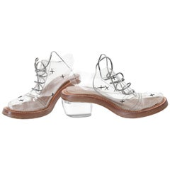 "Simone Rocha ""Cindy Rella"" Transparent Oxfords Shoes EU 39"